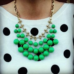 Stella & Dot Jolie Necklace $79. A pop of bright color that is light and easy to wear. Works with black, white or colors. #StellaDotStyle Shop>>http://www.stelladot.com/sites/Alexstanbach
