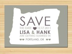 Oregon // Save the date // Wedding Invitations by styledbykristen, $15.00