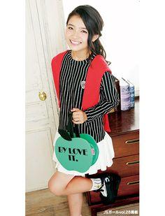 ストライプのトップスが大人っぽい! ☆小学生ファッション スタイルの参考コーデ☆
