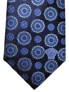 New $195 ISAIA NAPOLI Sky Blue Patterned Knit Cotton Tie Square End
