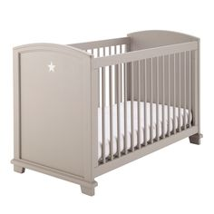 Lit bébé à barreaux en bois taupe L 131 cm Pastel