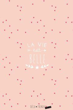 Coque-MOBILE-la-vie-est-belle-DECOTRENDY-rose