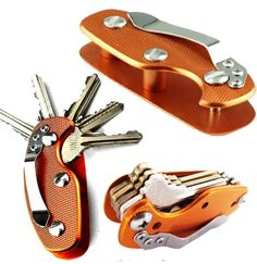 EDC Lightweight Folding Keys Organizer Pocket Aluminum Holder Feature: Brand new and high quality. Keep your keys organized with this handy tool. Hiking Tent, Folder Organization, Gadgets, Key Organizer, Outdoor Tools, Outdoor Projects, Outdoor Gear, Smart Key, Key Chain Rings