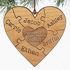 This Christmas ornament is so beautiful!!! It's engraved wood that looks like a puzzle! LOVE LOVE LOVE it!!!