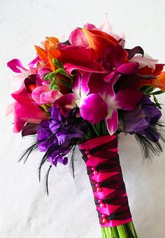 how to wrap a bridal bouquet with ribbon - Google Search