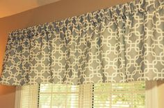 Thrifty Finds and Redesigns: DIY Curtain Valance