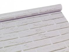 Papel de parede estilo tijolinho baiano branco.