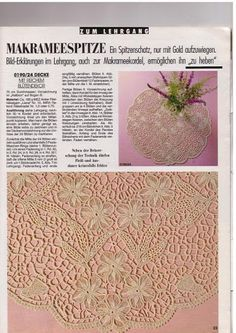 Romanian Point Lace crochet tablecloth from the January 1990 issue of Anna Burda needlecrafts magazine