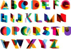 Colorful display typography by Brooklyn designerDylan Mulvaney. As seen in Manhattan Magazine'sThe A to Z of NYC Design.