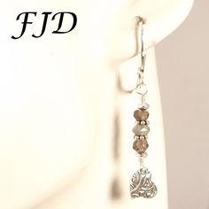 Silver and Gemstone Earrings by FelicityDesignsLLC on Etsy