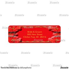 Torch Red Ribbons Label