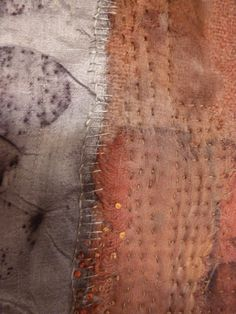 Natural dyeing and hand stitching. Ann Stephens