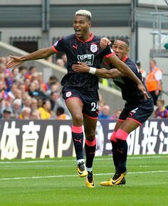 LOOK: The Man of the match with 2 goals Steve Mounie. Man Of The Match, The Man, Huddersfield Town, Crystal Palace, Terriers, Premier League, Action, Football, Goals
