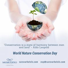 Celebrated on July 28 each year, World Nature Conservation Day recognizes that a healthy environment is the foundation for a stable and productive society and to ensure the well-being of present and future generations, we all must participate to protect, conserve, and sustainably manage our natural resources. On this day, let us make a conscious effort to contribute in conserving nature and save it for the present and future generations. #WorldsNatureConservationDay #SaveNaturalResources…