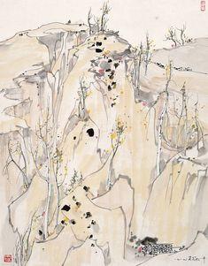 Wu Guanzhong's Plateau | Chinese Painting | China Online Museum