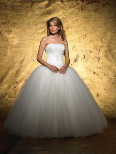 very princess like....Ball Gown Strapless Wedding Dress