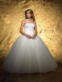 very princess like....Ball Gown Strapless Wedding Dress