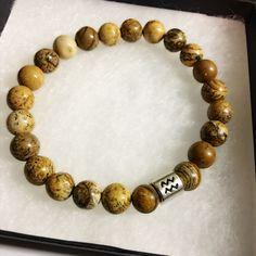 black Aquarius bracelet