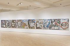 Jean-Paul Riopelle, L'hommage à Rosa Luxemburg, 1992. Acrylique et peinture en aérosol sur toile. MNBAQ