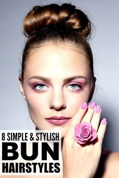 Whether you're looking for lazy, messy hairstyles for summer, or a more formal look for prom or your BFFs wedding, prefer a low, chignon-inspired look with braids or a high ballerina bun, this collection of easy bun hairstyles for medium and long hair is for you! Step-by-step tutorials included!