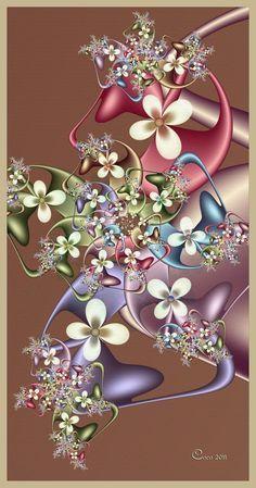 """Bouquet"""" by Coco, [Fractal Art] Flower Phone Wallpaper, Butterfly Wallpaper, Cellphone Wallpaper, Wallpaper Backgrounds, Iphone Wallpaper, Art Fractal, Fractal Images, Fractal Design, Foto Art"""
