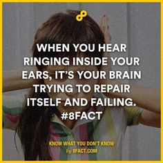 when you hear ringing inside your ears its your brain trying to repair itself and failing   subconscious mind is a social community blogpagechannel and a website dedicated to teach you how to do things and stuff Teaching you interesting funny facts every day and collecting the best top 10s we can find  includes amazing strange interesting random funny weird cool facts   #subconscious_mind #did_you_know #How_to #Facts #top_10  youtube Channel…