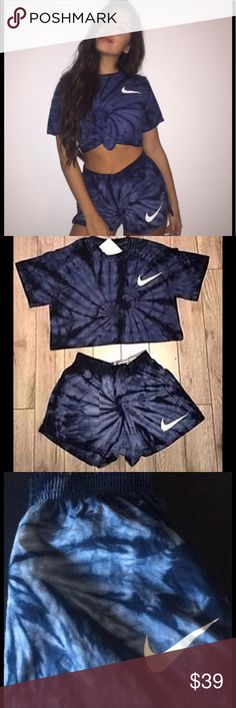 Nike Tie Dye matching set Only worn shirt twice and wore shorts once. It was too small for me. Nike Tops Tees - Short Sleeve