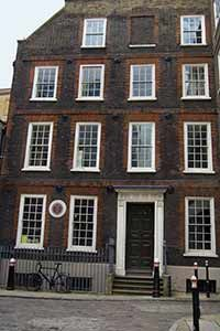 """Dr. Samuel Johnson's House - Certainly the best known quote about London is his """"Why, Sir, you find no man, at all intellectual, who is willing to leave London.  No, Sir, when a man is tired of London, he is tired of life; for there is in London all that life can afford.    (from Boswell's Life of Johnson)"""