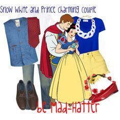 Snow White and Prince Charming Couple Disney Themed Outfits, Disney Bound Outfits, Couple Outfits, Disney Dresses, Snow White Prince Costume, Prince Charming Costume, Drunk Disney, Dapper Day Disneyland, Disney Halloween
