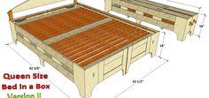Queen Bed in a Box V-II