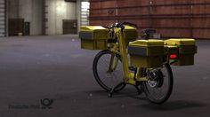 An e-bike for Deutsche Post by Luke Guttery | Bicycle Design