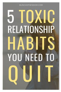 Here are 5 of the most common and not so obvious toxic relationship habits that can kill your relationship and how you can fix them. Ending A Relationship, Relationship Issues, Toxic Relationships, Healthy Relationships, Relationship Quotes, Love Quotes For Him, Quotes For Kids, Family Quotes, Dating A Narcissist