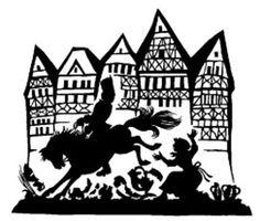 Schöne Postkarte mit Scherenschnitt-Motiv GRIMMS MÄRCHEN KÖNIG DROSSELBART in Sammeln & Seltenes, Ansichtskarten, Sonstige | eBay