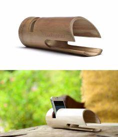 Loudbasstard. Altavoz de Bambú para Smartphones. Más información: http://ecoinventos.com/2013/loudbasstard-altavoz-de-bambu-para-smartphones