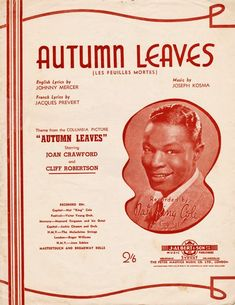 Autumn leaves by Kosma and Prevert, #sheetmusic #autumnmusic #fallmusic allegedly #evacassidy version but (not to dis the dead) she didn't write it.  AKA #feuillesmortes this is the real #autumnleaves to me score for #piano #vocal #chords #singerpro in #Bflatminor but nobody does it in that key  #transpose it to Cminor or Aminor if you want friends to play along.  #musicnotes #affiliate