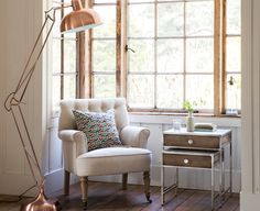 Embrace the industrial feel of copper with oversized, stand out pieces. Pair with delicate accessories and elegant soft furnishings to soften the look.