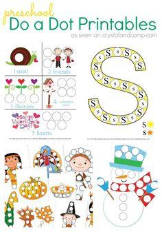 preschool do a dot printables
