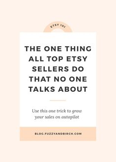 The one thing all top Etsy Sellers do that no one talks about - My job is a little weird. As an Etsy Business Coach I basically listen to super talented people tell me all the reasons they cant manage to make money. And the complaint I hear all Craft Business, Creative Business, Business Tips, Online Business, Business Coaching, Business Formal, Business Casual, Risky Business, Business Planner