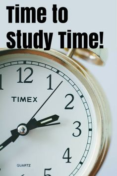 Time to Study Time ~ Resources for Teachers for Teaching and Reviewing Time.
