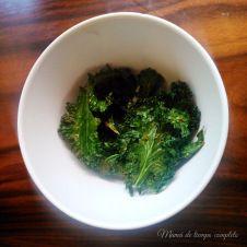 Kale chips o chips de berza