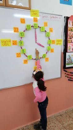 Magnets with the hula hoop so that it can be put up and down quickly between classes Do for unit circle next year?This Pin was discovered by ÖĞRThis post was discovered by Nicole Pelosi. Discover (and save!) your own Posts on Unirazi. Teaching Time, Teaching Math, Primary Teaching, Math Classroom, Kindergarten Math, Math Math, Material Didático, Primary Maths, 1st Grade Math