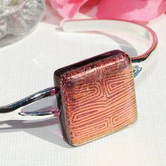 Dichroic Glass Bracelet Fused Glass Jewelry Cuff by IntoTheLight