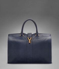 Yves Saint Laurent Cabas bag is beautiful in Navy Blue.  Gorgeous for spring