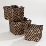 An honorary member of Boxes and Bags. Espresso Caitlin Storage Basket Collection