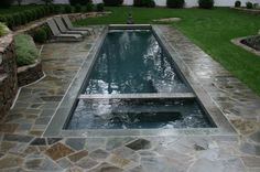 nice pool and spa for a small space