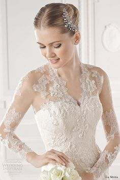 In love with Lace wedding gown