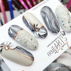 Trendy Nail Art, 3d Nail Art, Nail Art Hacks, 3d Nails, Pastel Nails, New Nail Art Design, Elegant Nails, Stylish Nails, Acrylic Nail Designs