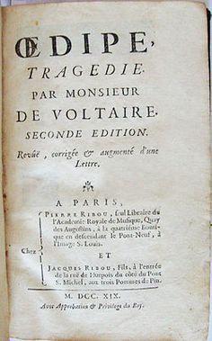 """#CybookLecture de @Dimitri49700 """"#VendrediLecture Sur mon Cybook Odyssey @BookeenTeam Voltaire : """"Oedipe"""". Merci @GallicaBnF de permettre la lecture de ces introuvables !"""" Et Merci au domaine public aussi !"""