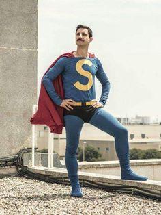 We hope Nathan grows up to be as hot as Superlopez! Super Lopez, Alexandra Jimenez, Superhero Superman, Stud Muffin, Dani, Action Movies, My Man, Mustache, Kim Kardashian