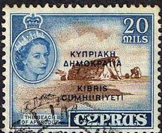 Stamps Cyprus 1955 New Currency SG 184 Fine Used Scott 179 Other Cyprus Stamps HERE